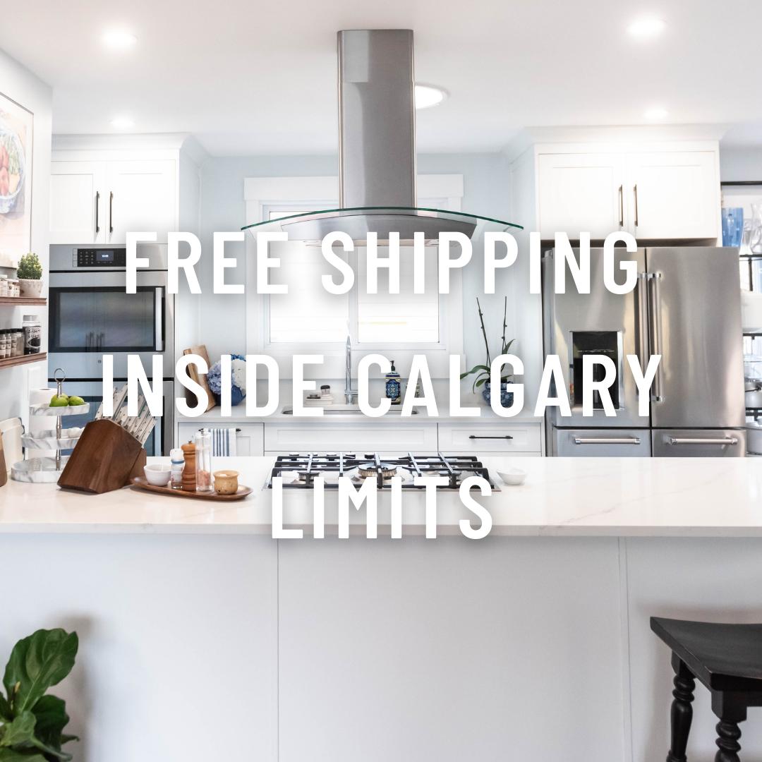 Free shipping inside Calgary limits
